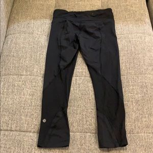Lululemon Black Cropped Legging Pants Size 4